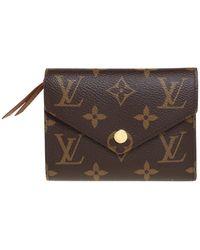 Louis Vuitton Monogram Canvas Victorine Wallet - Brown