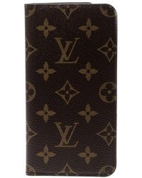 Louis Vuitton - Monogram Canvas Iphone 7&8 Folio Case - Lyst