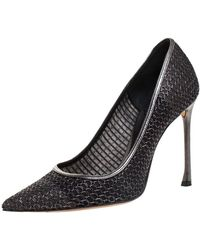 Dior Metallic Mesh Pointed Toe Court Shoes