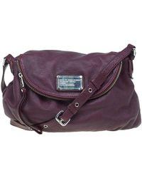 139bb1a6048e Marc By Marc Jacobs - Burgundy Leather Classic Q Natasha Crossbody Bag -  Lyst