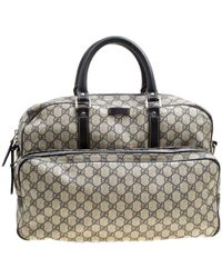 b9d9eaeef3f3 Gucci - Beige/blue GG Supreme Canvas And Leather Diaper Bag - Lyst