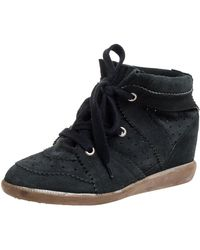 Isabel Marant Green Suede Bobby High-top Trainers