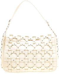 Dior Cream Leather Croisette Hobo - Natural