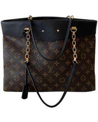 Louis Vuitton Monogram Canvas Pallas Shopper Tote Bag - Brown