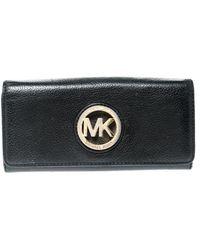 Michael Kors - Black Leather Fulton Wallet - Lyst