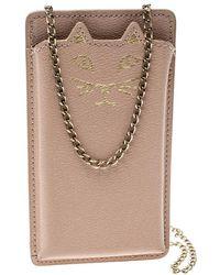 Charlotte Olympia - Blush Leather Feline Iphone 6 Case - Lyst