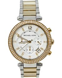 Michael Kors Silver Two-tone Stainless Steel Parker Mk5626 Wristwatch - Metallic