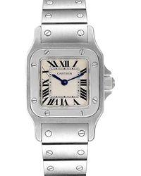 Cartier Silver Stainless Steel Santos Galbee W20056d6 Women's Wristwatch 24 X 24 Mm - Metallic