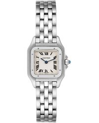 Cartier White Stainless Steel Panthere W25033p5 Wristwatch