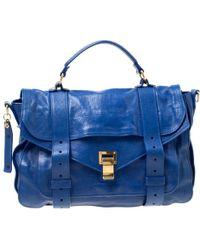 Proenza Schouler Royal Blue Leather Medium Ps1 Top Handle Bag