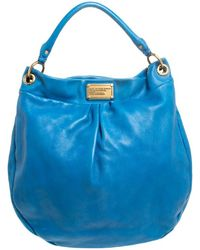 Marc By Marc Jacobs Blue Leather Classic Q Hillier Hobo