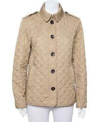 Burberry Brit Beige Cotton Quilted Ashurst Jacket - Natural