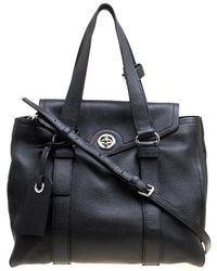 Marc By Marc Jacobs - Black Leather Turnlock Bowler Bag - Lyst