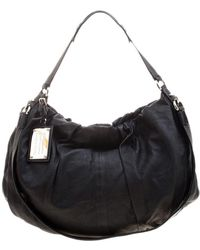 Dolce & Gabbana Black Leather Miss Night And Day Hobo