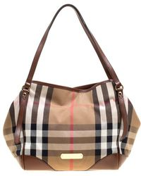 6bb210934cd0 Lyst - Burberry  haymarket Check - Small Canterbury  Tote in Pink