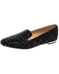 DSquared² Black Crystal Embellished Smoking Slippers