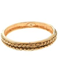 Chanel Vintage Braided Texture Gold Plated Bangle Bracelet - Metallic