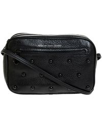 Marc By Marc Jacobs Marc Jacobs Black Leather Sally Stud Crossbody Bag
