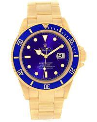 Rolex - 18k Yellow Gold Submariner Men's Wristwatch 40mm - Lyst