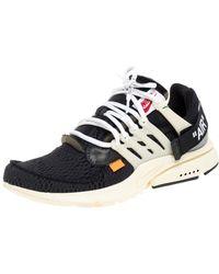 NIKE X OFF-WHITE Off White X Nike Black Mesh Fabric The 10 Nike Air Presto Trainers