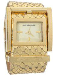Michael Kors Yellow Gold Plated Stainless Steel Mk2133 Wristwatch - Metallic