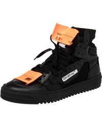 Off-White c/o Virgil Abloh Black Leather And Canvas Off Court 3.0 Trainers