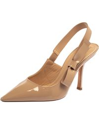 Dior Nude Patent Leather Sweet D J'a Court Shoes - Natural