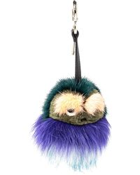 Fendi Multicolour Fur Monster Bug Bag Charm/ Key Ring
