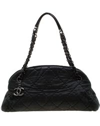 Chanel 2011 Leather Satchel - Black