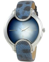 Ferragamo Blue Stainless Steel Fiz040015 Women's Wristwatch 38mm
