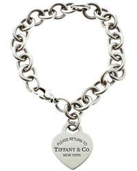Tiffany & Co. - Return To Tiffany Heart Tag Silver Bracelet - Lyst