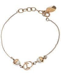 Dior Mise En Faux Pearl Gold Tone Bracelet - Metallic