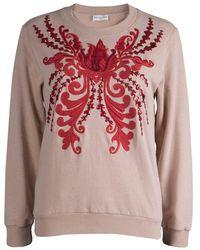 Dries Van Noten - Pastel Embroidered Embellished Sweatshirt S - Lyst