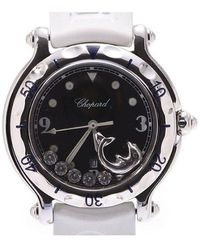 Chopard Black Diamond And Stainless Steel Happy Fish 27/8921 Women's Wristwatch 31mm