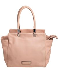 Marc By Marc Jacobs Peach Leather Too Hot To Handle Tote - Gray