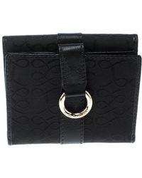 Lancel Black Canvas French Wallet
