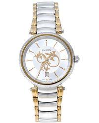 Balmain Silver Two Tone Stainless Steel Classica Lady Downtown 4072 Women's Wristwatch 35 Mm - Metallic