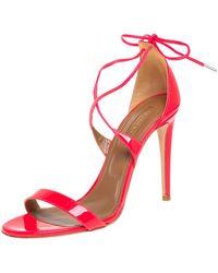 Aquazzura Aquazurra Pink Patent Leather Linda Sandal