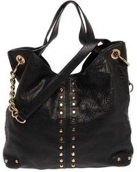 MICHAEL Michael Kors Black Leather Studded Uptown Astor Hobo