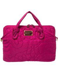Marc By Marc Jacobs Fuchsia Nylon Pretty 13'' Laptop Bag - Pink