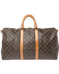 Louis Vuitton Monogram Canvas Keepall 50 Bag - Brown