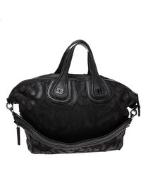 Givenchy Black Leather And Nylon Medium Nightingale Satchel