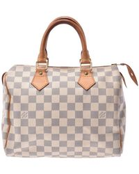 Louis Vuitton Damier Azur Canvas Speedy 25 Bag - Multicolour