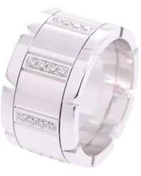 Cartier Tank Francaise 18k White Gold Diamond Ring - Metallic