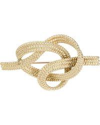 Van Cleef & Arpels Tiffany & Co. Rope Knot 18k Yellow Gold Brooch - Metallic