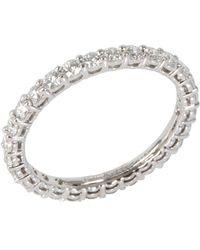 Tiffany & Co. Eternity Embrace 0.85 Ctw Diamond Platinum Band Ring - Metallic