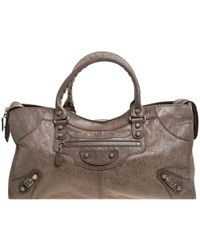 Balenciaga Sandstone Leather Part Time Tote - Natural