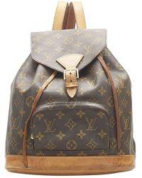 Louis Vuitton Monogram Canvas Mini Montsouris Backpack Bag - Brown