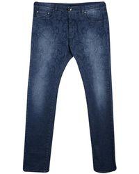 Etro Indigo Faded Effect Paisley Printed Denim Regular Fit Jeans 3xl - Blue