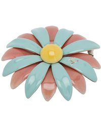 Chanel Pink/aqua Enamel Baroque Brooch - Multicolor